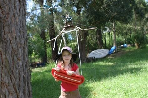 backyard zip line without trees diy backyard zipline best boys kiddos pinterest
