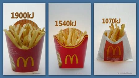 hot chips kilojoules kilojoules and fast food the in your face facts