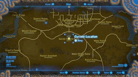 all the important locations throughout the quest legend of zelda breath of the wild captured memories