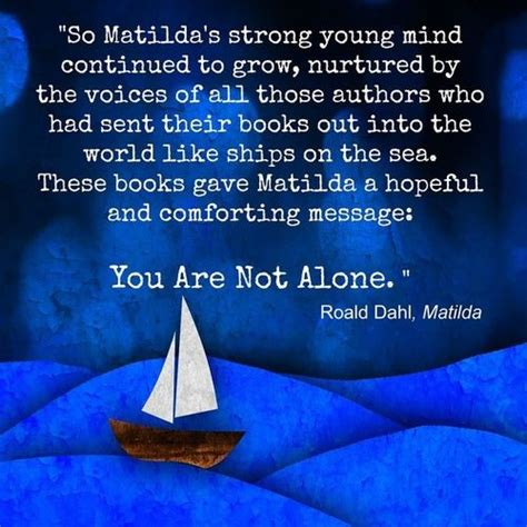 comforting messages these books gave matilda a hopeful and comforting message
