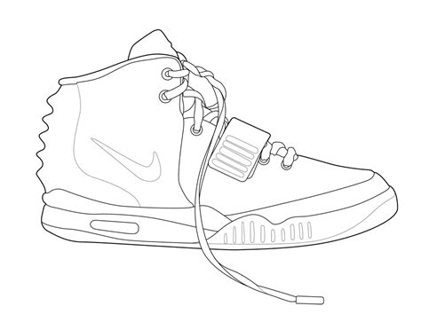 sneaker template shoe coloring pages az coloring pages