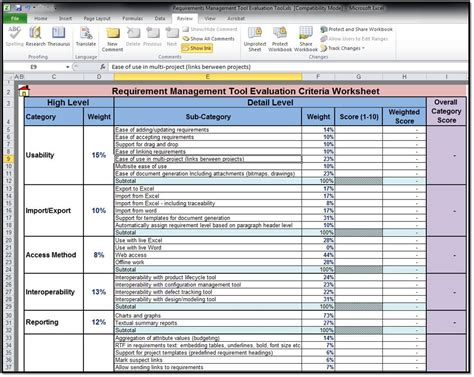 Project Requirements Template Excel by Free Requirements Management Tool 2 0 Screenshots