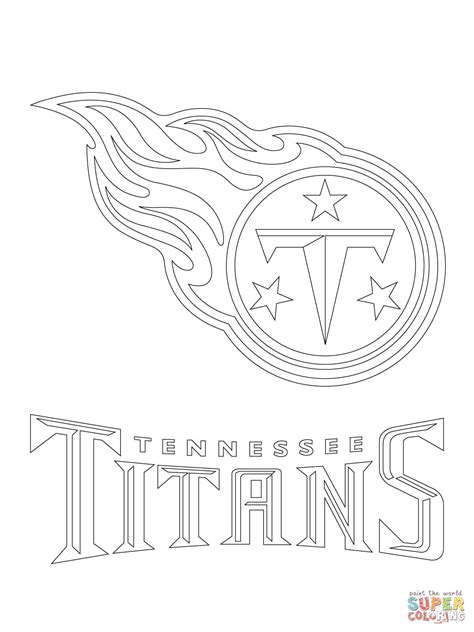 tennessee titans logo coloring page free printable