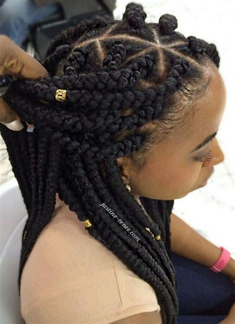 hair style using big braids jumbo box braids 4 pinteres