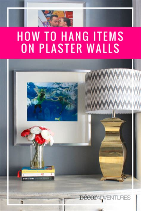 to hang pictures on wall how to hang items on plaster walls 187 decor adventures