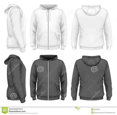 zip hoodie design template men zip hoodie stock vector image 50333919