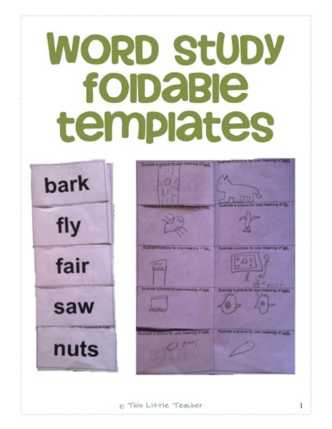 synonym words with o study page word study foldable templates homophones homographs