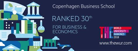 Times Higher Education Mba Ranking by Times Higher Education Ranks Cbs 30th In The World Cbs