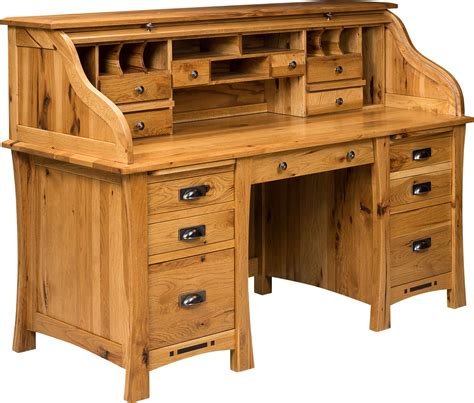 arts and crafts roll top desk from dutchcrafters amish