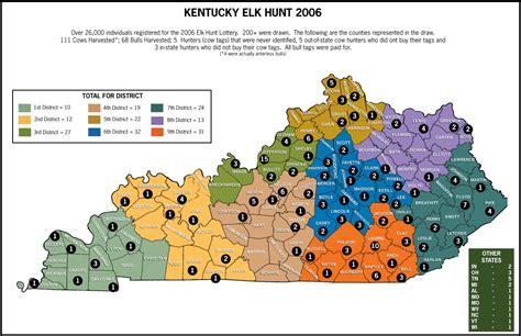 ky elk map kentucky zones map