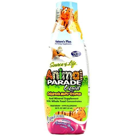 Vitamin Animal Parade Nature S Plus Animal Parade Liquid Children S Multi