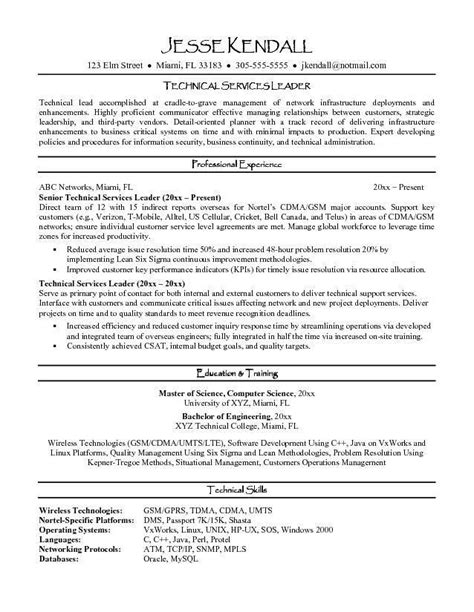 human resources supervisor resume exle team leader resume team leader resume sles visualcv