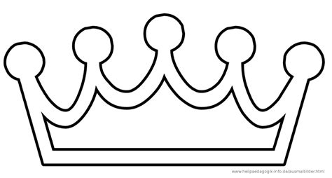 simple crown coloring page easy king and queen crown coloring pages