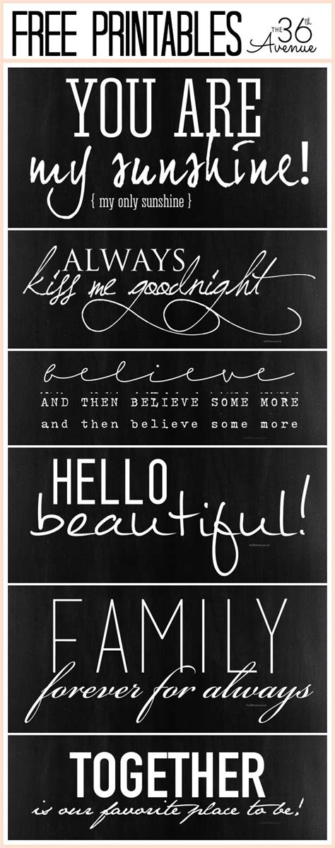 printable sign fonts free quotes printable collection at the36thavenue comfree