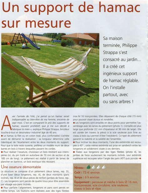 Fabrication D Un Support De Hamac by Comment Se Fabriquer Un Support De Hamac