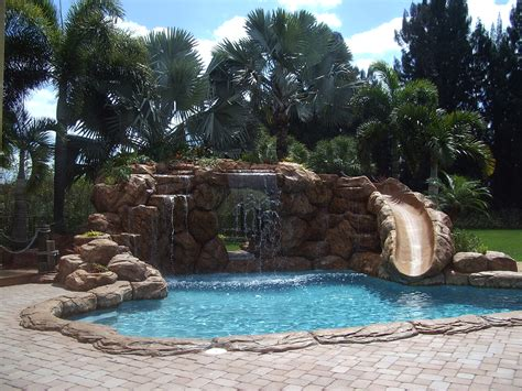 pools with waterfalls inground pools with waterfalls and slides interior design