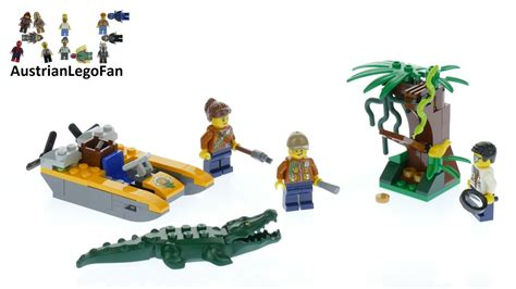 lego city jungle boat lego city 60157 jungle starter set lego speed build