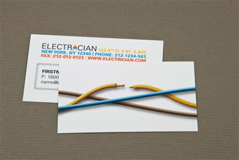 business card cutter template electrician business card with cut wire template inkd