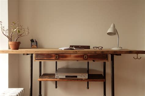 Modern Stand Up Desk Industrial Reclaimed Wood Standing Desk Rustic Desks And Hutches New York By Coil Drift