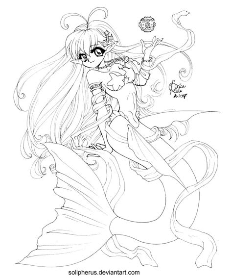 coloring pages anime mermaids hypergeneric anime mermaid by solipherus on deviantart