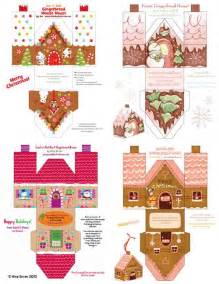 Free Printable Paper Crafts - printable paper gingerbread houses and gingerbread on