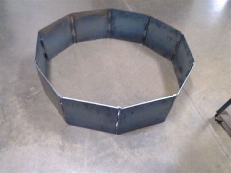 pit steel ring insert cfire pit ring insert blank 40 quot decagon heavy duty steel 10 panels