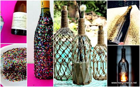 diy crafts with bottles diy projects using wine bottles