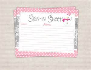 Baby Shower Sign In Sheet Template by Search Results For Free Printable Baby Shower Sign In