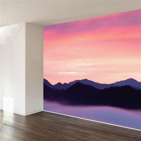 how to paint a sunset on a bedroom wall paul moore s rocky mountain sunset mural from walls need love