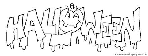imagenes de que digan halloween dibujos de halloween para colorear