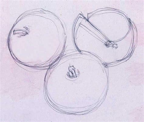 sketsa gambar apel belajar gambar multi info