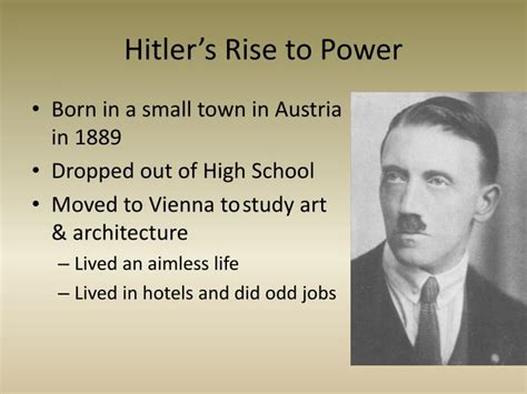 biography of hitler ppt ppt rise of totalitarian dictators powerpoint