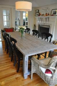 Home Made Kitchen Tables White Farmhouse Table With Extensions Diy Projects