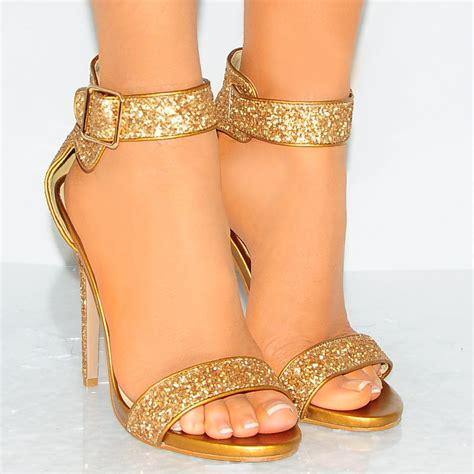 High Heels Gliter Rra Gold lad