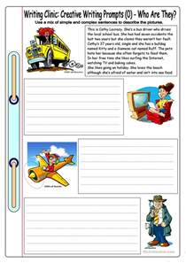 Esl Essay Writing by Writing Clinic Creative Writing Prompts 0 Who Are They Worksheet Free Esl Printable