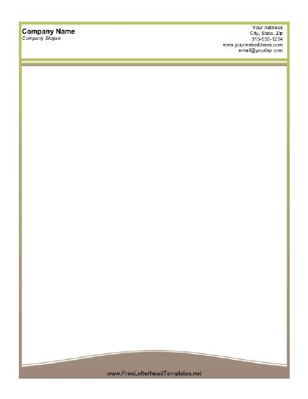 business letterhead template open office a printable letterhead design with a thin olive green