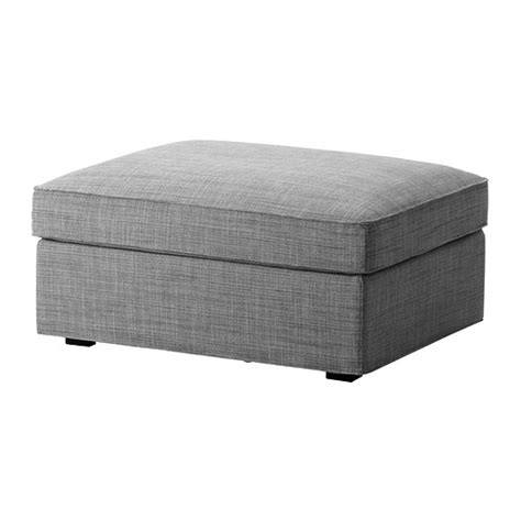 kivik footstool with storage isunda gray ikea