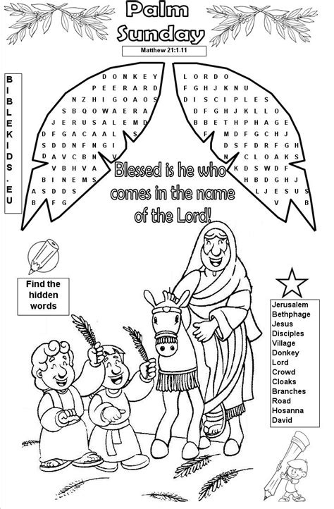 Wedding At Cana Ks1 by Palm Sunday Palm Sunday Word Search Puzzle