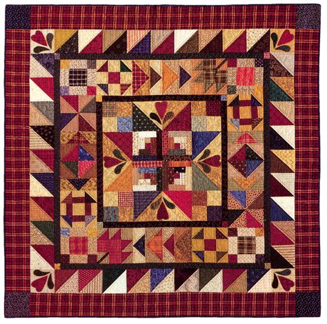 American Patchwork And Quilting Patterns - hearthside memories quilting pattern from the editors of