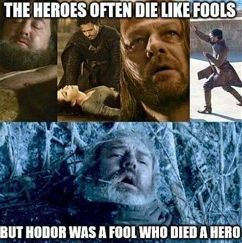 Game Of Thrones Hodor Meme - game of the heroes and the doors on pinterest