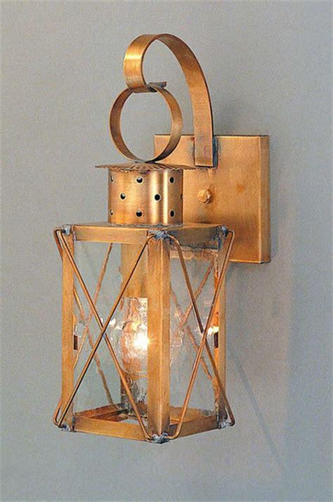 Wall Lantern Sconce Dock Lantern Copper Colonial Period Wall Lanterns