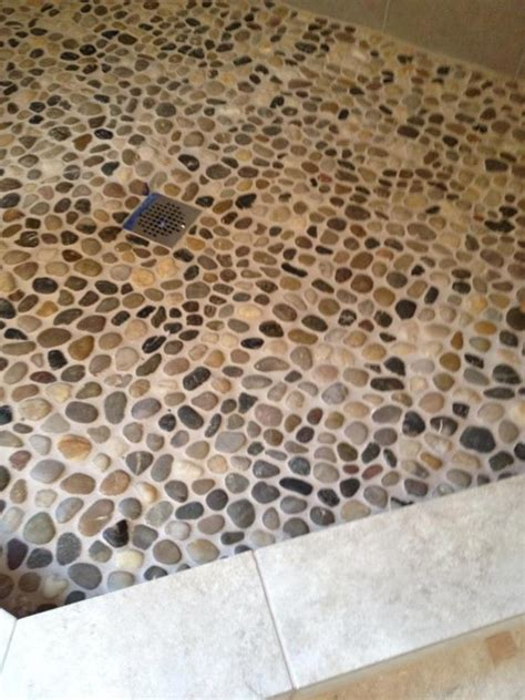 pebble shower floor pebble rock shower floor traditional detroit by troy