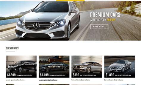 bootstrap themes rental ren a car template car rental website template