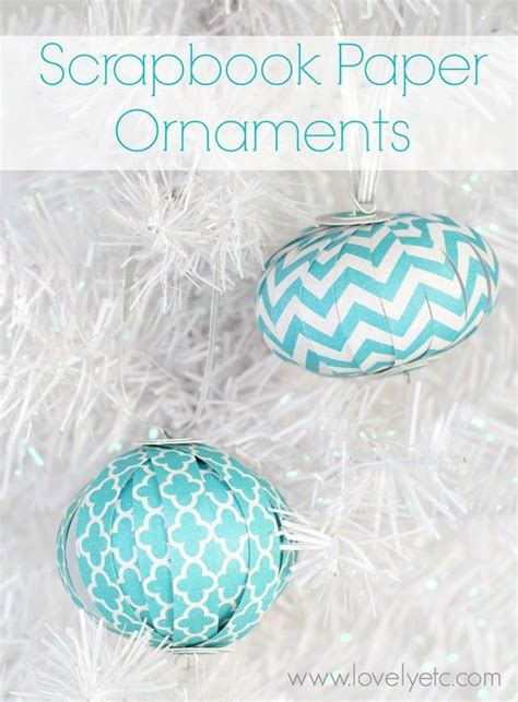 glam paper christmas ornaments lovely etc