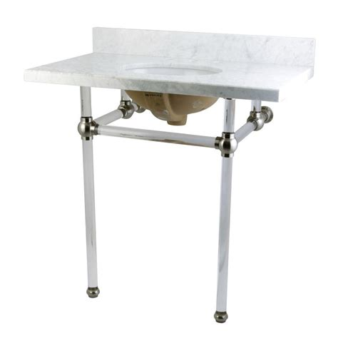36 console table kingston brass washstand 36 in console table in carrara
