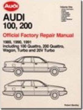 book repair manual 1992 audi 100 free book repair manuals audi 100 200 official factory repair manual 1989 91 pt 1 audi of america 9780837603728