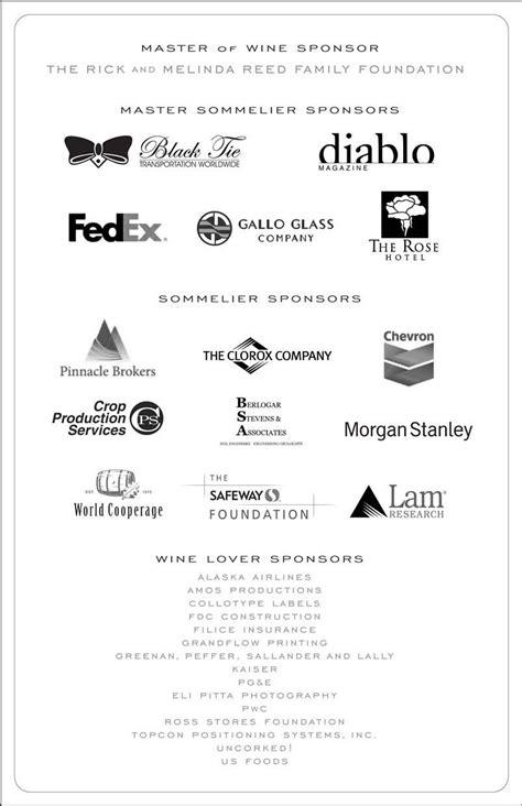Sponsorship Letter For Wine Sponsors Livermore Valley Wine Foundation
