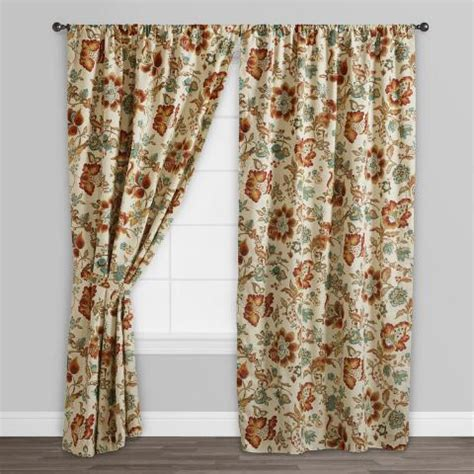 world market drapes multicolor floral malli sleevetop curtains set of 2