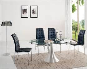 Glass Dining Room Table Sets Glass Top Dining Table With Stainless Steel Frame Modern Dining Room Large Glass Dining Table