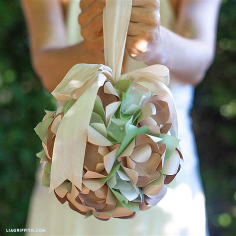 diy paper flower wedding balls